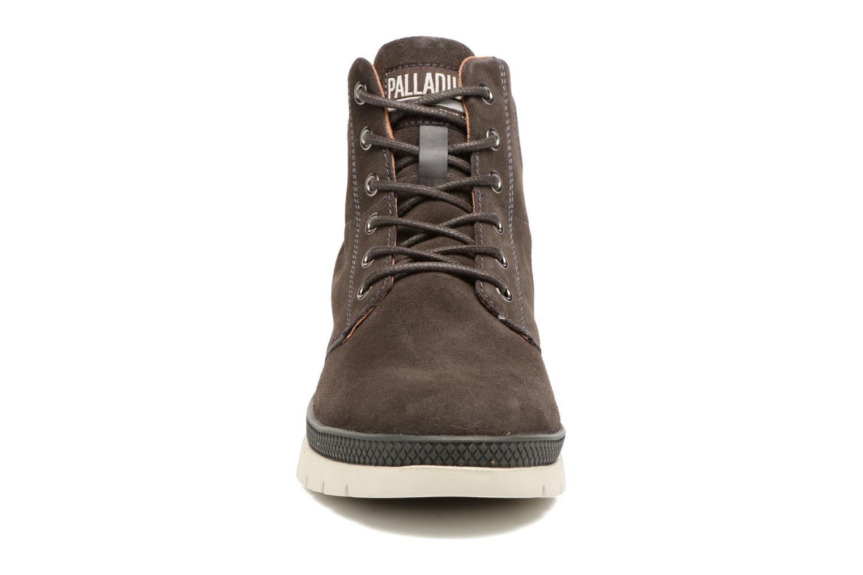 Stiefeletten & Boots Palladium Pallasider Mid Sue braun schuhe getragen