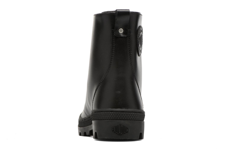 Bottines et boots Palladium Pallabosse OFF Lea Noir vue droite