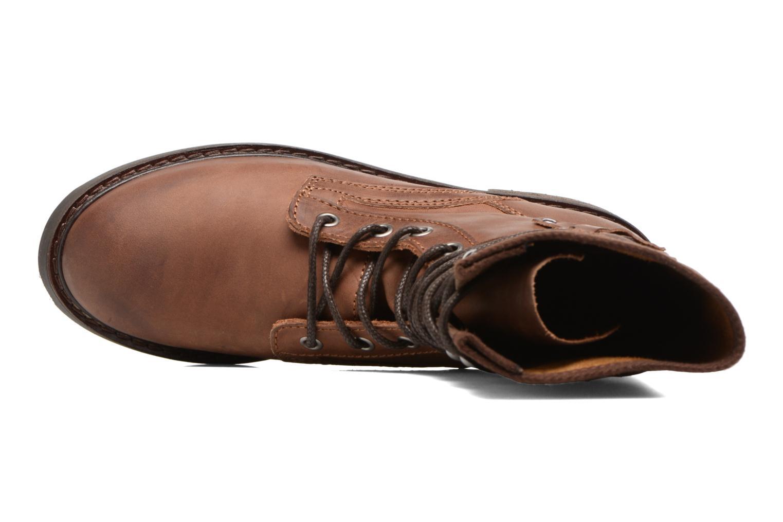 Bottines et boots P-L-D-M By Palladium Bupswing Mix Marron vue gauche