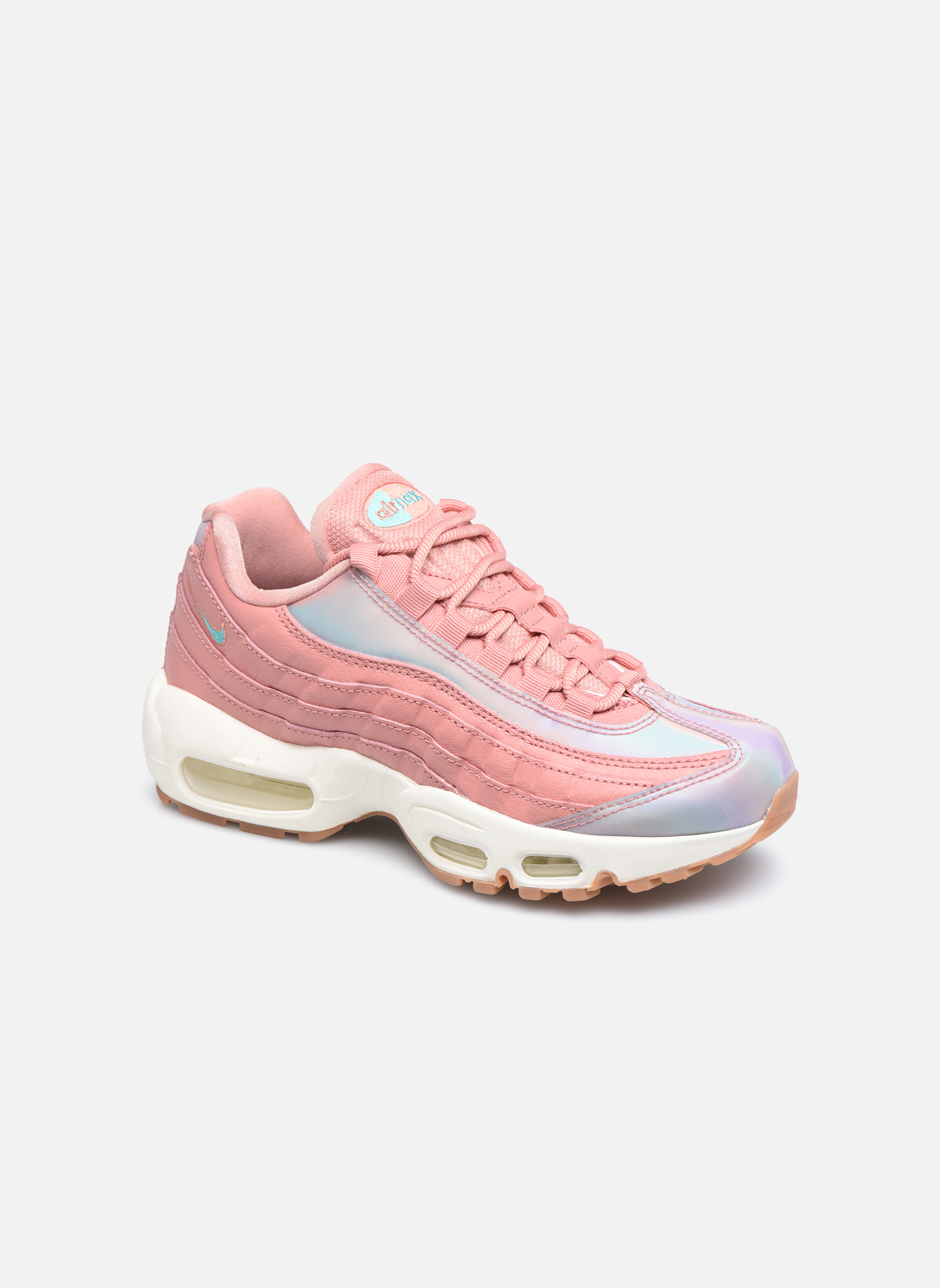 Baskets Nike Wmns Air Max 95 Se Rouge vue détail/paire