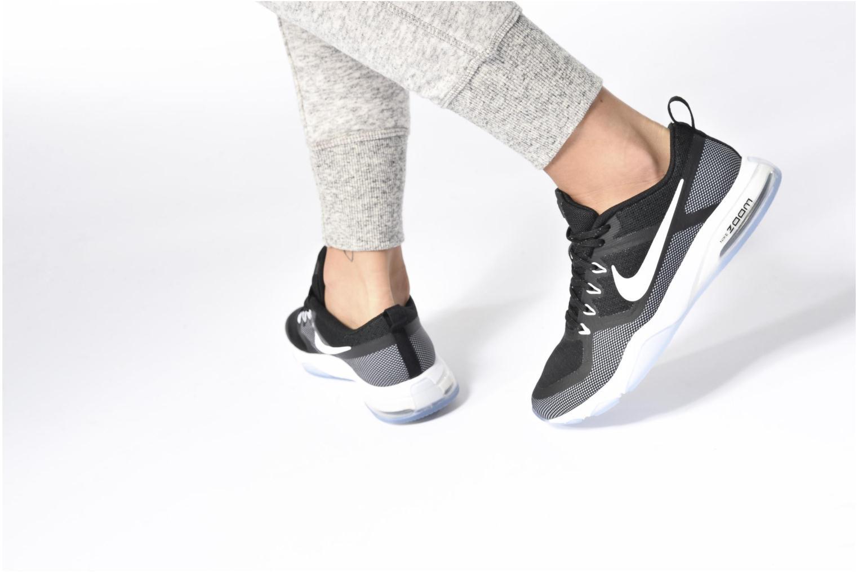 Chaussures de sport Nike Wmns Nike Air Zoom Fitness Gris vue bas / vue portée sac