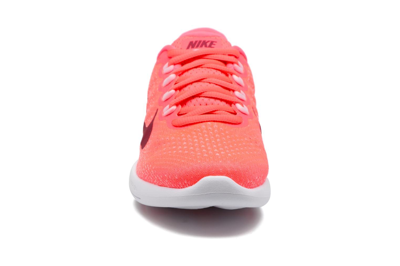 Chaussures de sport Nike Wmns Nike Lunarglide 9 Rose vue portées chaussures