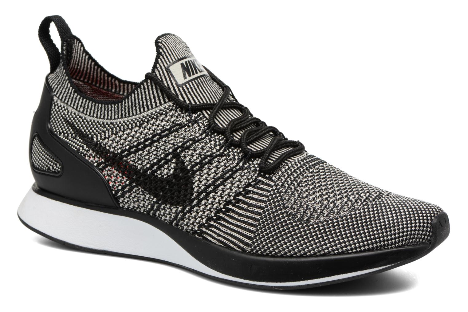 Air Zoom Mariah Flyknit Racer Pale Grey/Black-Solar Red-White