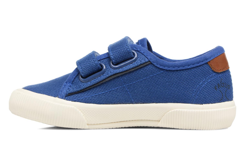 Baskets Faguo Birch Velcro Bleu vue face
