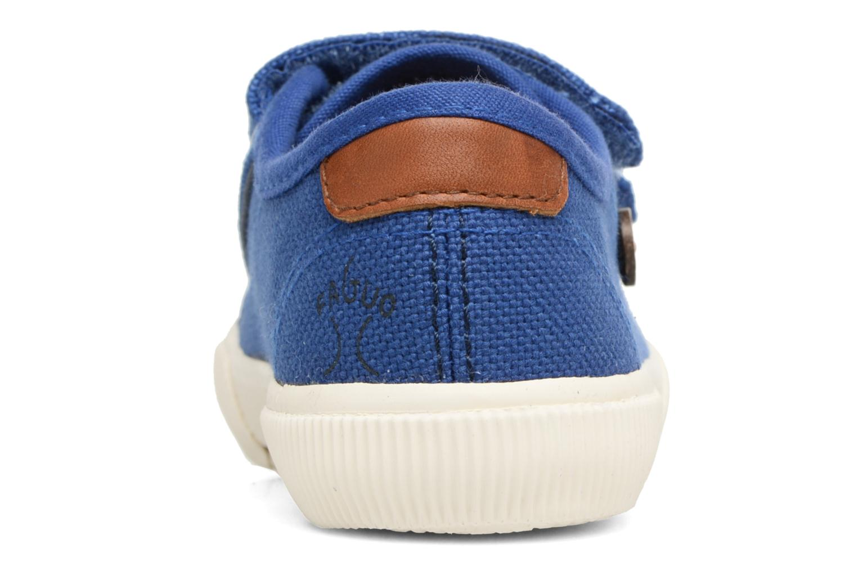 Baskets Faguo Birch Velcro Bleu vue droite