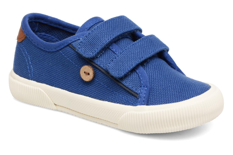 Baskets Faguo Birch Velcro Bleu vue détail/paire