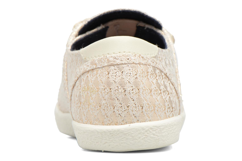 Baskets Faguo Cypress Velcro Or et bronze vue droite