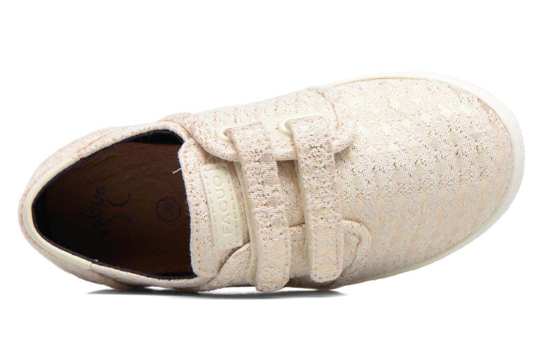 Baskets Faguo Cypress Velcro Or et bronze vue gauche