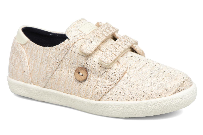 Baskets Faguo Cypress Velcro Or et bronze vue détail/paire