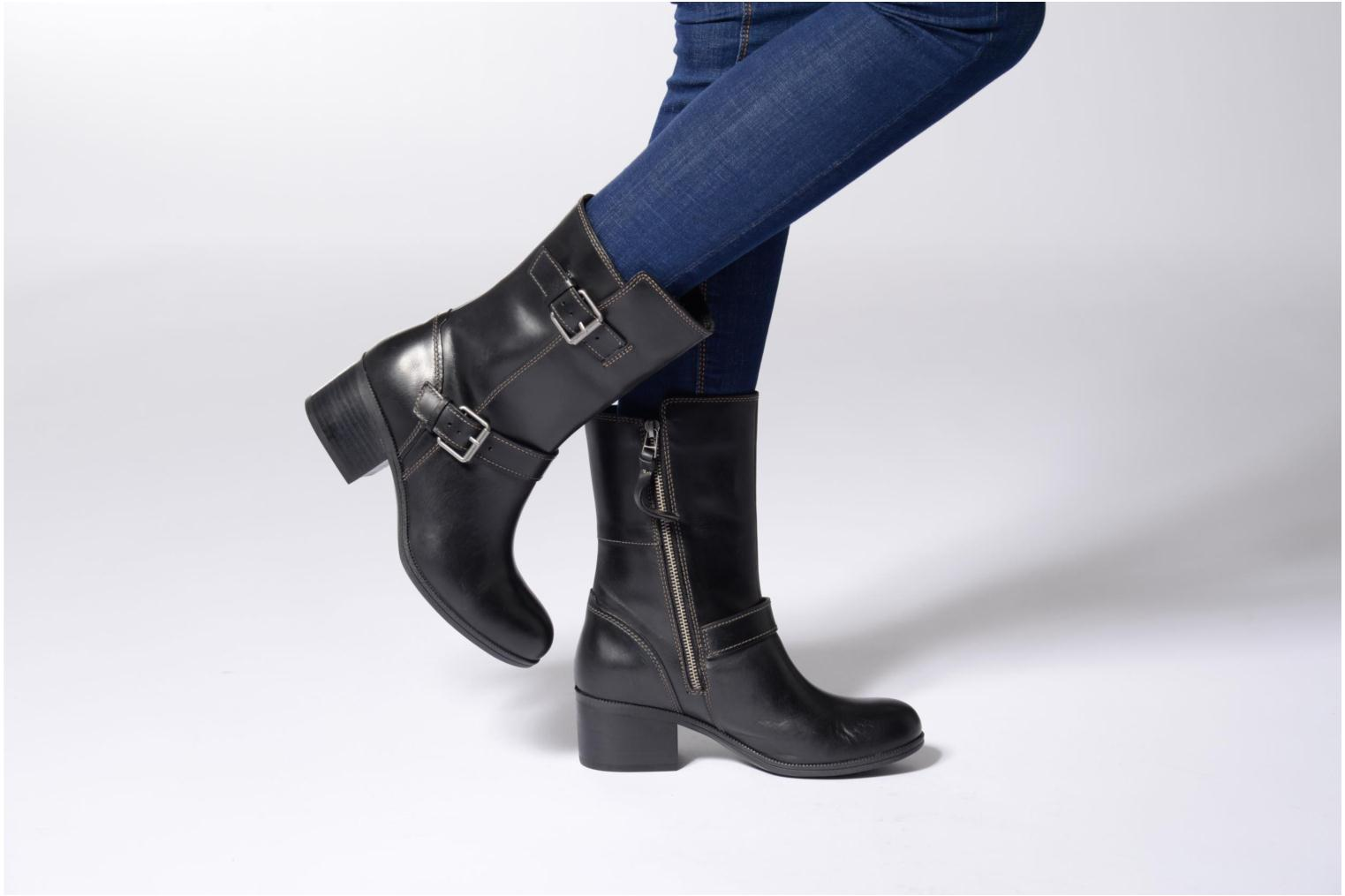 Boots & wellies Clarks Maypearl Oasis Black view from underneath / model view