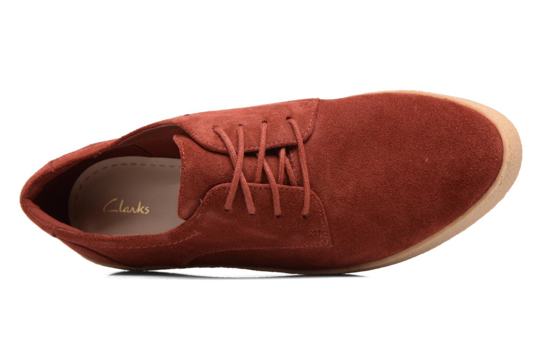 Chaussures à lacets Clarks Lillia Lola Rouge vue gauche