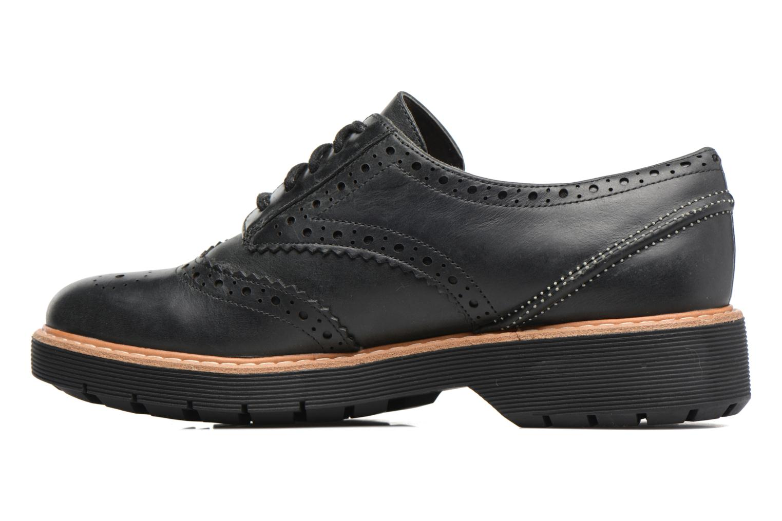 Lace-up shoes Clarks Witcombe Echo Black front view