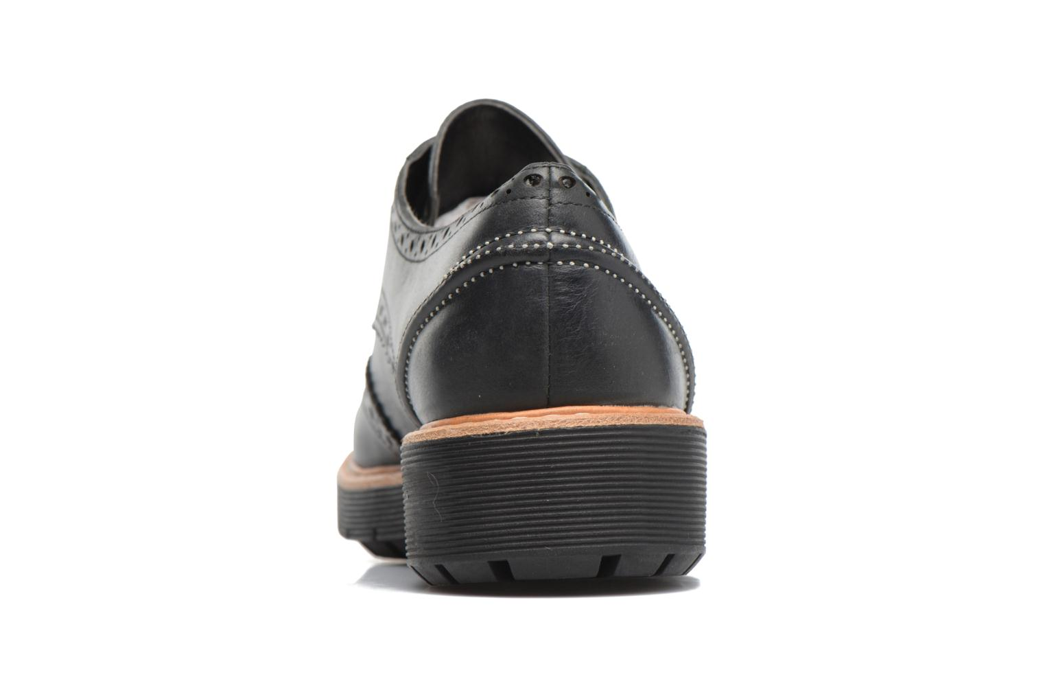 Lace-up shoes Clarks Witcombe Echo Black view from the right