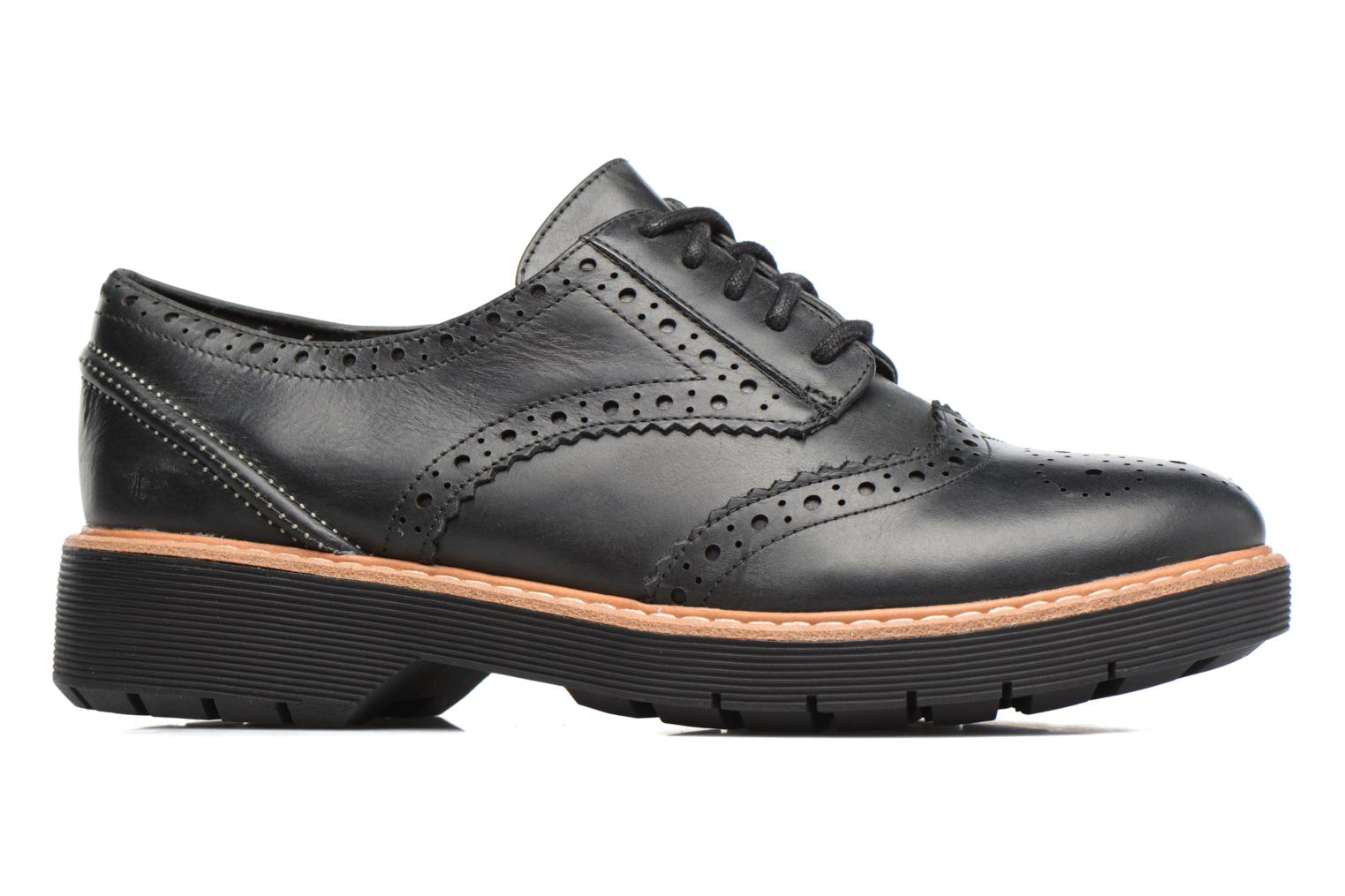 Lace-up shoes Clarks Witcombe Echo Black back view