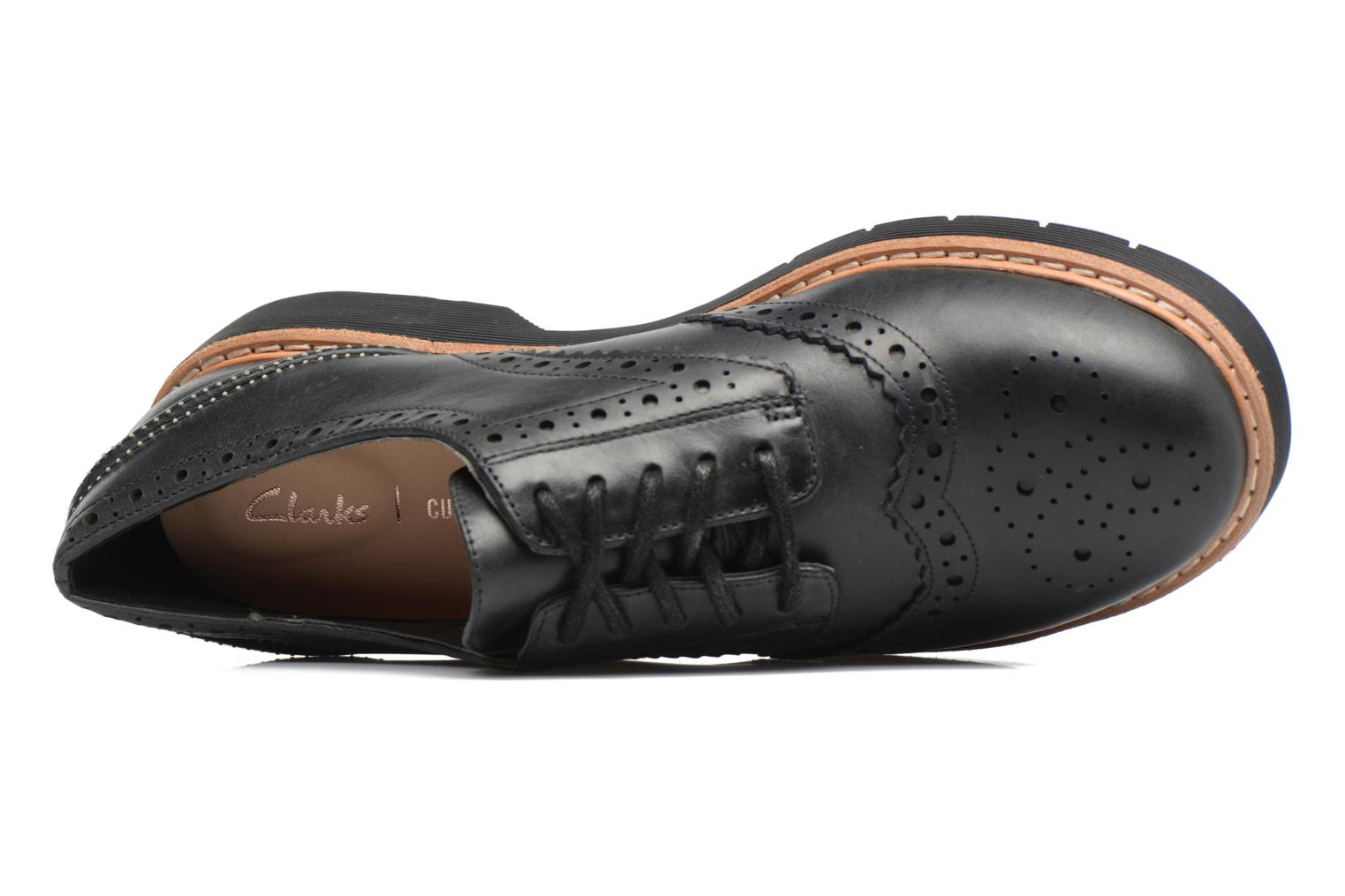 Lace-up shoes Clarks Witcombe Echo Black view from the left