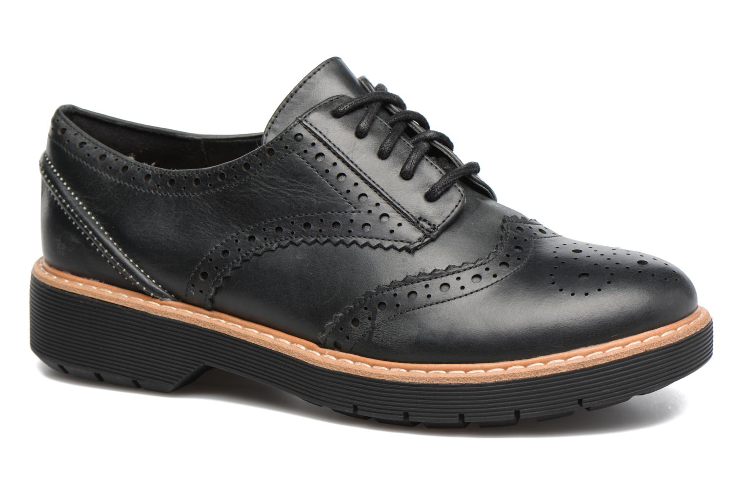Lace-up shoes Clarks Witcombe Echo Black detailed view/ Pair view