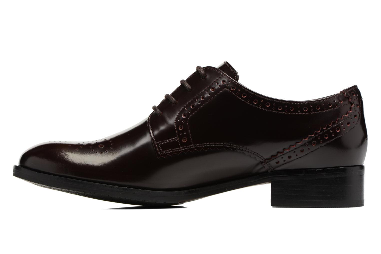Chaussures à lacets Clarks Netley Rose Bordeaux vue face