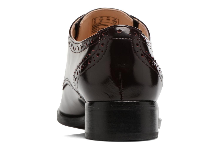Chaussures à lacets Clarks Netley Rose Bordeaux vue droite