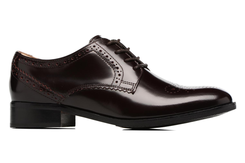 Chaussures à lacets Clarks Netley Rose Bordeaux vue derrière