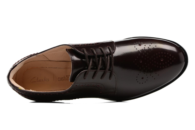 Chaussures à lacets Clarks Netley Rose Bordeaux vue gauche