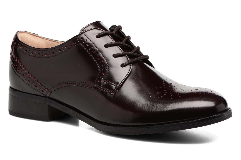 Chaussures à lacets Clarks Netley Rose Bordeaux vue détail/paire
