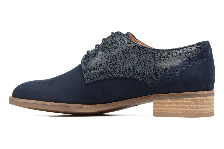 Chaussures à lacets Clarks Netley Rose Bleu vue face
