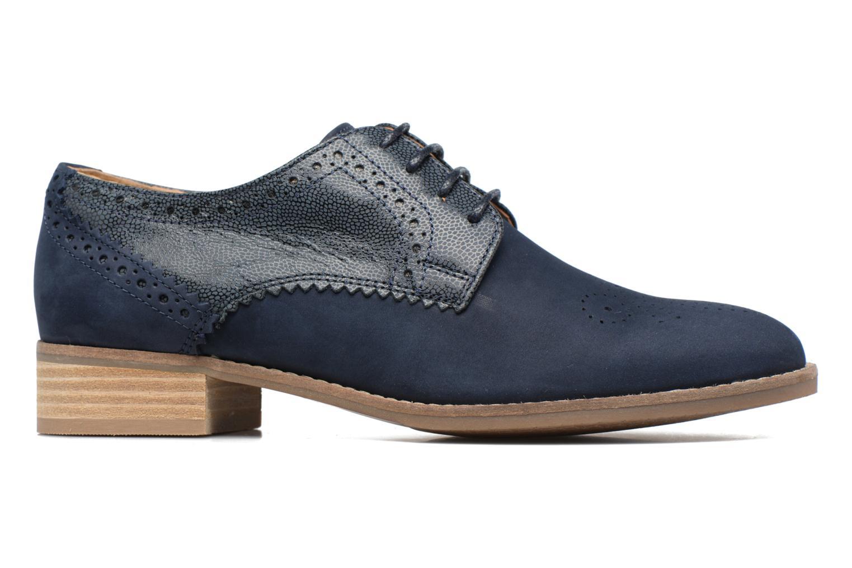 Chaussures à lacets Clarks Netley Rose Bleu vue derrière