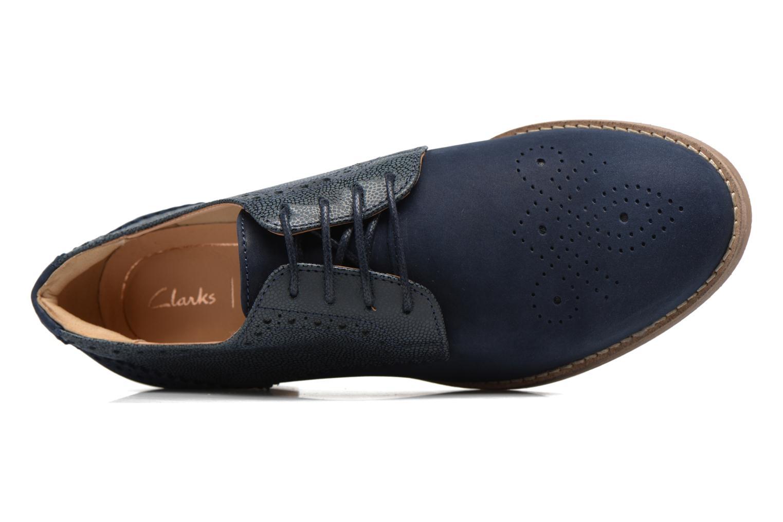 Chaussures à lacets Clarks Netley Rose Bleu vue gauche