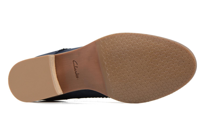 Chaussures à lacets Clarks Netley Rose Bleu vue haut