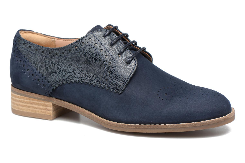 Chaussures à lacets Clarks Netley Rose Bleu vue détail/paire