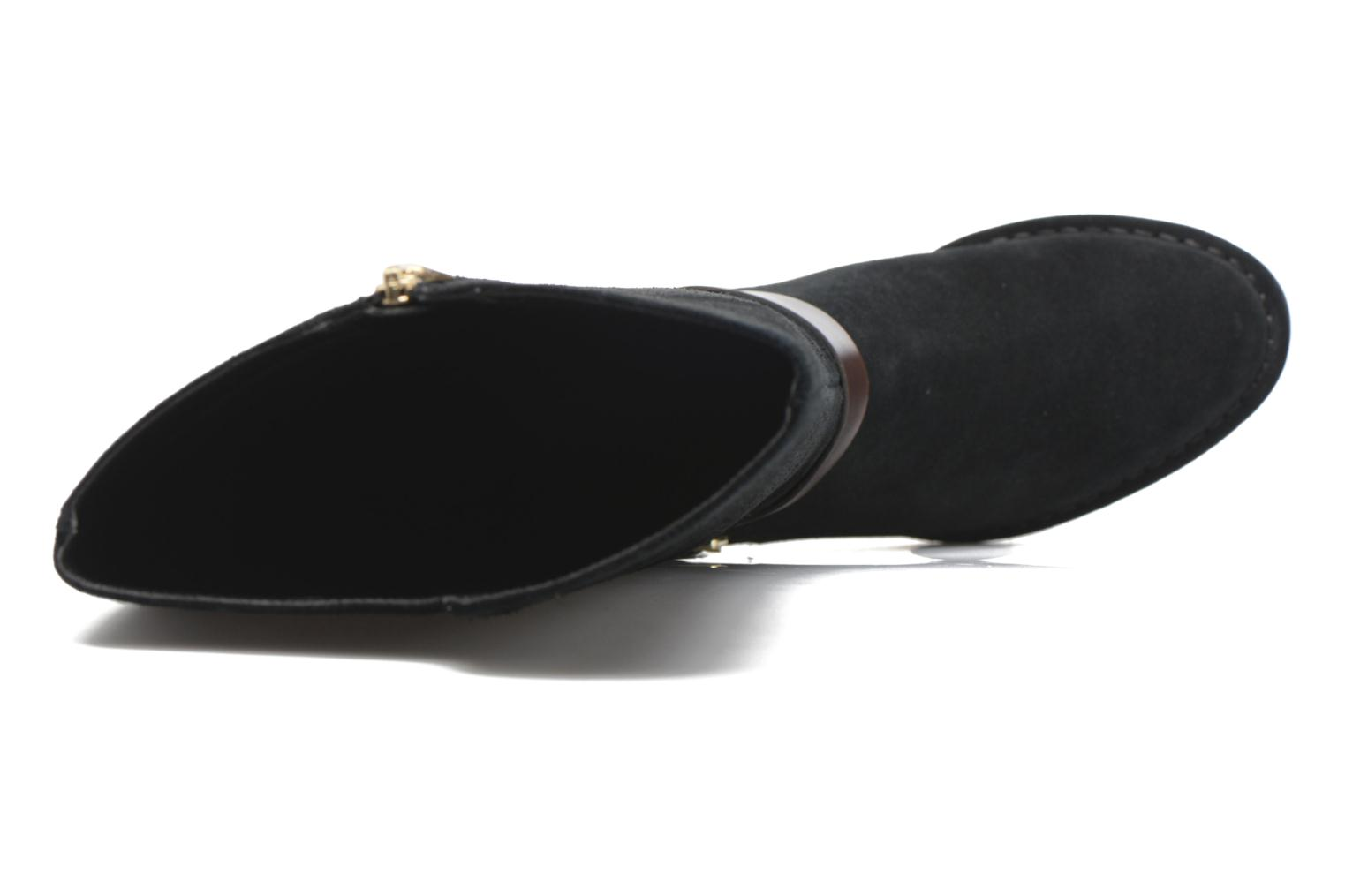Spiced Flame Black Suede