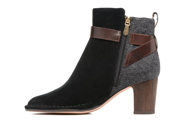 Bottines et boots Clarks Spiced River Noir vue face
