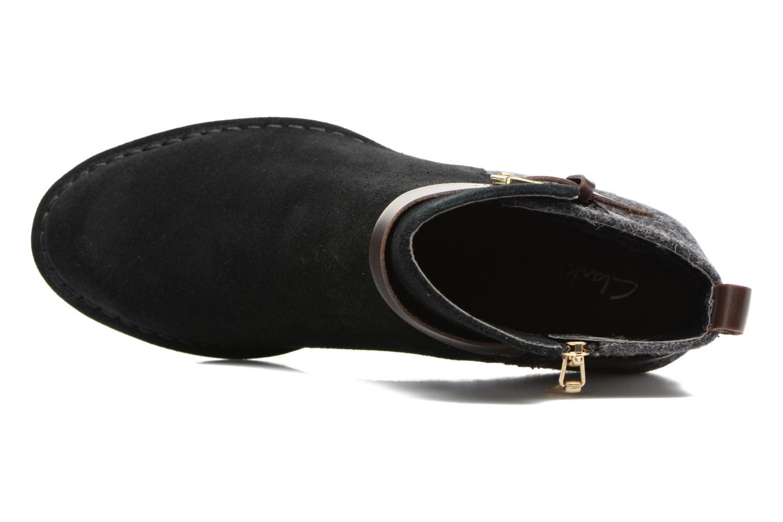 Bottines et boots Clarks Spiced River Noir vue gauche