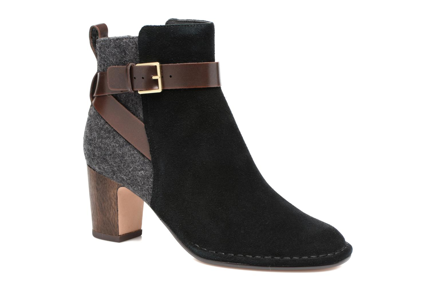 Ankle boots Clarks Spiced River Black detailed view/ Pair view