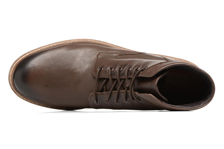 Boots en enkellaarsjes Clarks Blackford Hi Bruin links