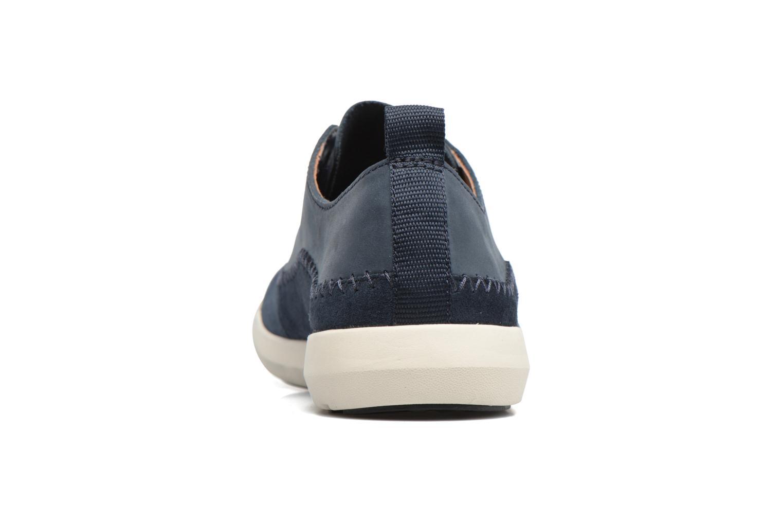 Baskets Clarks Trifri Lace Bleu vue droite