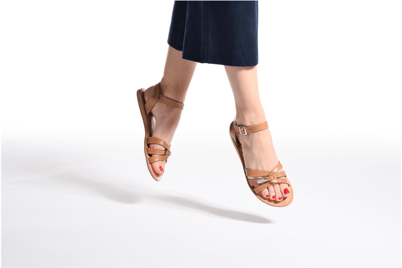 Sandales et nu-pieds Les Tropéziennes par M Belarbi Balisto Marron vue bas / vue portée sac