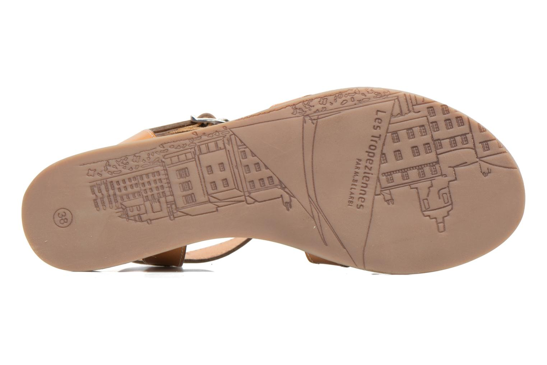 Sandales et nu-pieds Les Tropéziennes par M Belarbi Balisto Marron vue haut