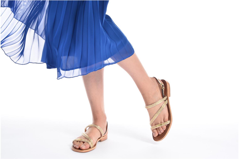 Sandales et nu-pieds Les Tropéziennes par M Belarbi Barry Or et bronze vue bas / vue portée sac