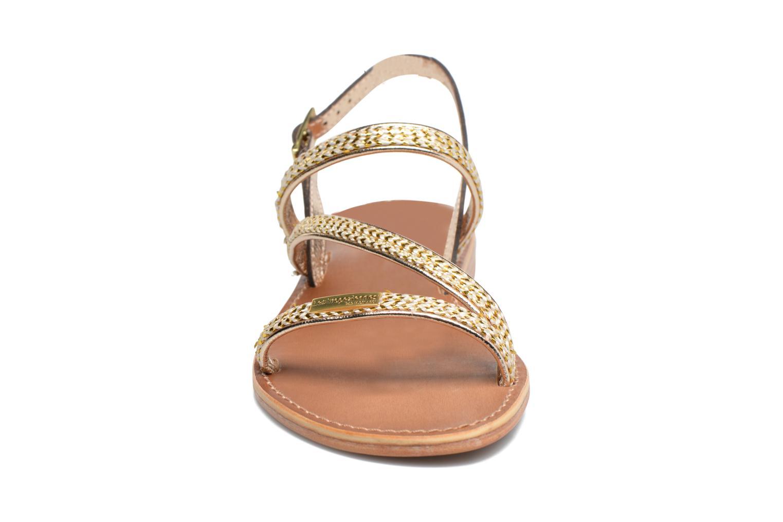 Sandales et nu-pieds Les Tropéziennes par M Belarbi Barry Or et bronze vue portées chaussures