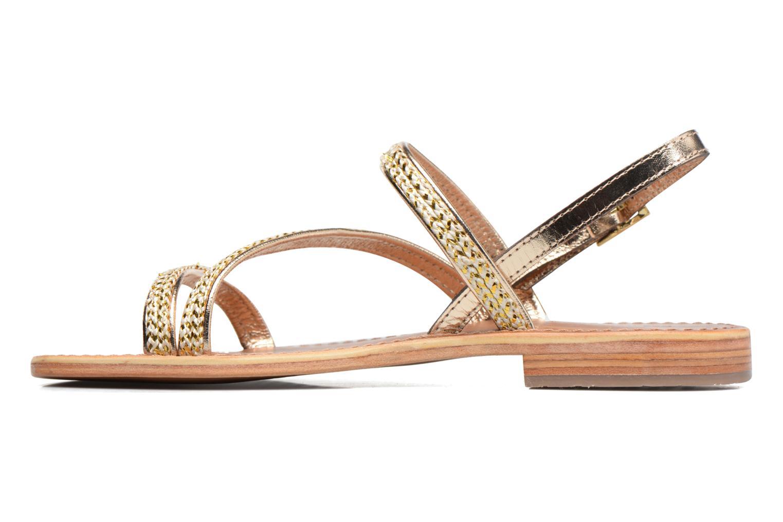 Sandales et nu-pieds Les Tropéziennes par M Belarbi Barry Or et bronze vue face