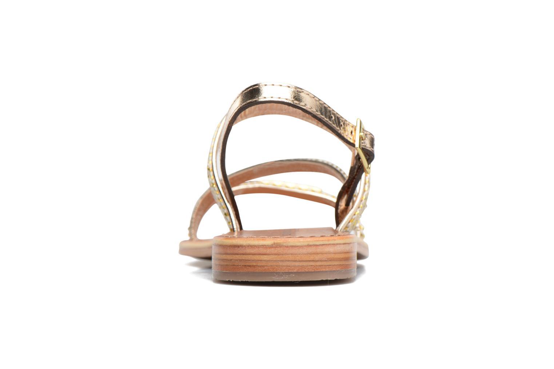 Sandales et nu-pieds Les Tropéziennes par M Belarbi Barry Or et bronze vue droite