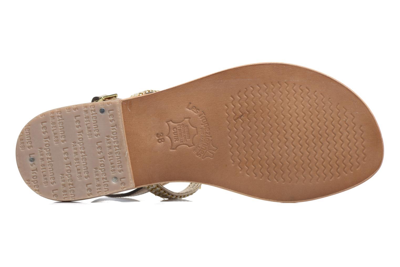 Sandales et nu-pieds Les Tropéziennes par M Belarbi Barry Or et bronze vue haut
