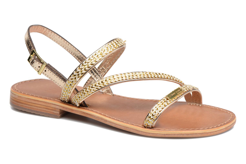 Sandales et nu-pieds Les Tropéziennes par M Belarbi Barry Or et bronze vue détail/paire