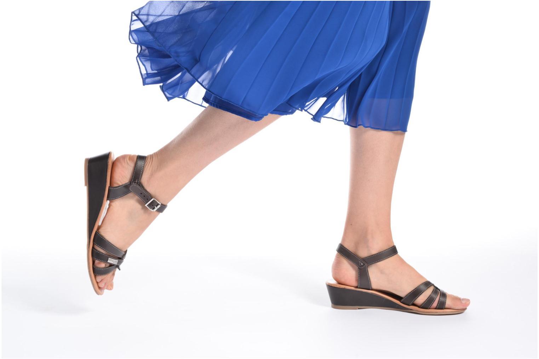 Sandales et nu-pieds Les Tropéziennes par M Belarbi Bolero Marron vue bas / vue portée sac