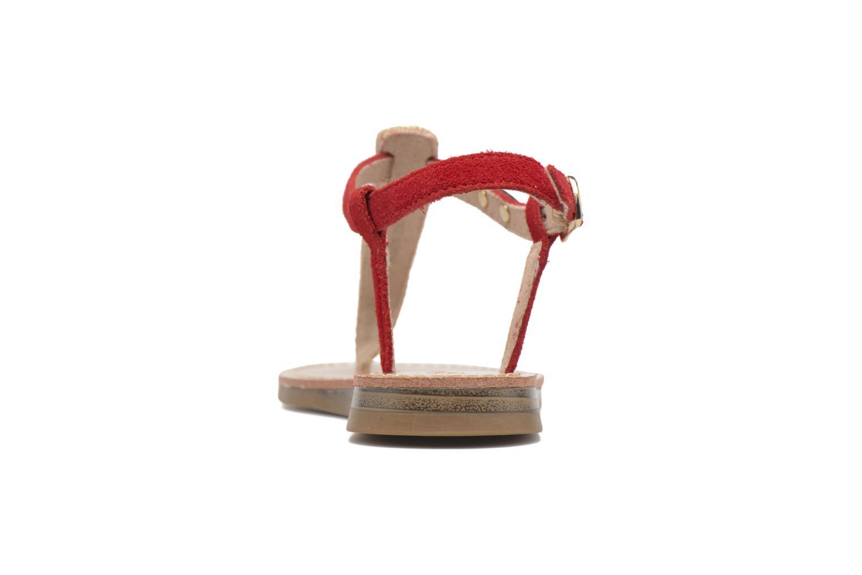 Sandales et nu-pieds Les Tropéziennes par M Belarbi Geronima Rouge vue droite