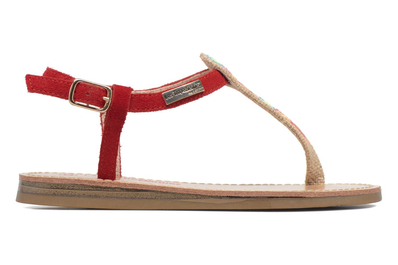 Sandales et nu-pieds Les Tropéziennes par M Belarbi Geronima Rouge vue derrière