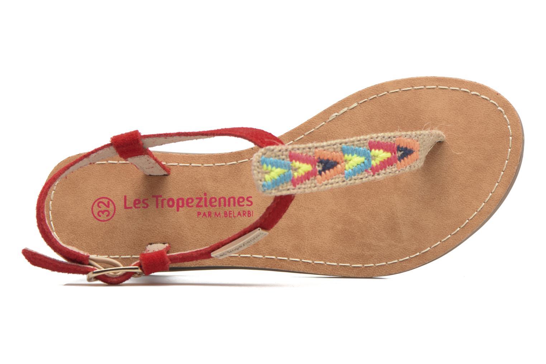 Sandales et nu-pieds Les Tropéziennes par M Belarbi Geronima Rouge vue gauche