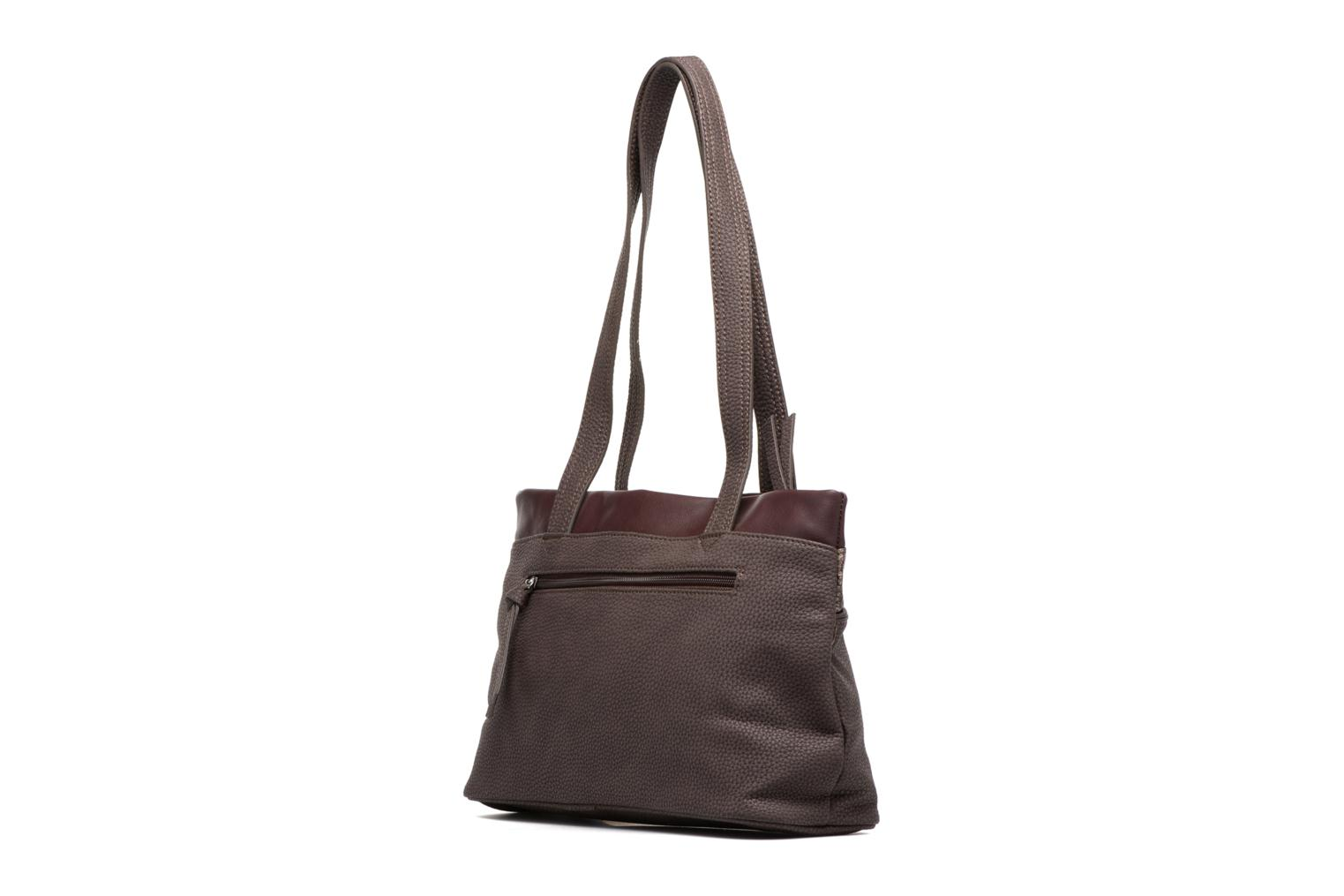 KHEMA Shoulder bag Dark brown comb