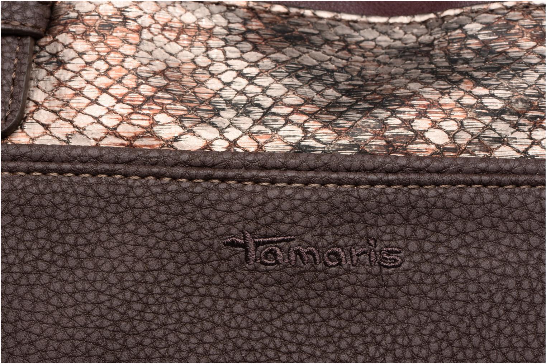 KHEMA Shoulder bag Dark brown comb